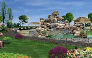 别墅庭院假山渔池设计的风水定位